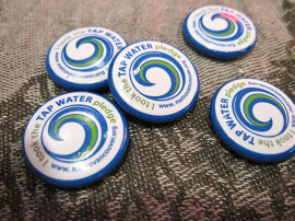 Pins from Metro Vancouver's campaign to promote tap water | Photo by Ariane Colenbrander, Flickr