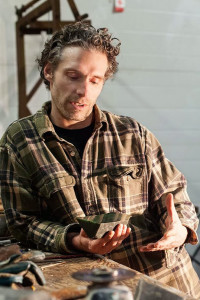 Brian Matheson talks about the 2014 world jade symposium. | Photo by Stephanie Lamy